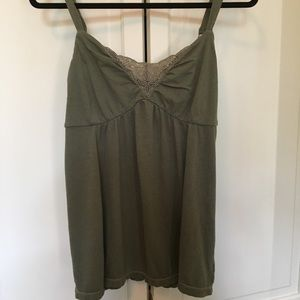 Olive Green Lace Front Cami